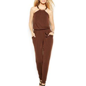 🛒Michael Kors Jersey Jumpsuit small in chocolate